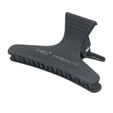 Sibel Clip Carbon Line Black 8cm 3pcs/9376300