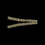 Sibel Wavy Golvende Haarspelden 70mm Bronze 500 Stk.