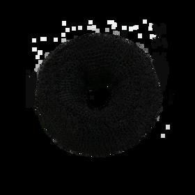 Sibel Couronne Chignon Nylon Ø9cm Noir