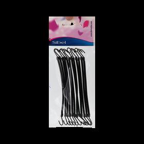Sibel Elastiques Doux Hook 12pcs. Noir