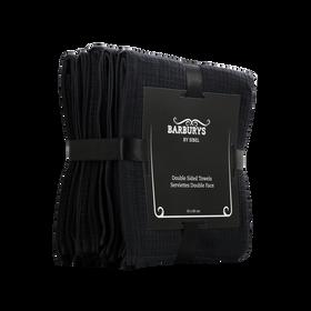 Barburys Towel Double Sided 50x80cm Black 6pcs/3513200