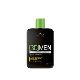 Schwarzkopf 3D Men Shampoing Anti-Pelliculaire 250ml